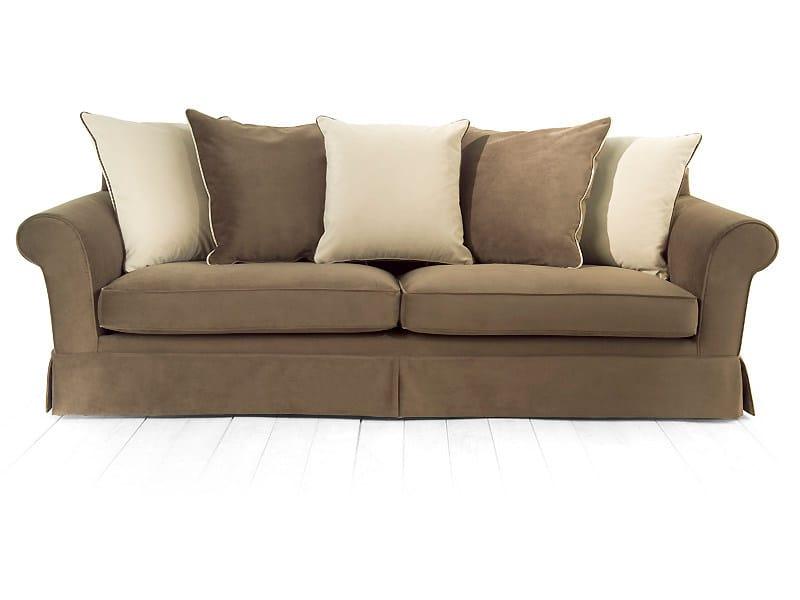 4 seater sofa with removable cover SAFFRON   4 seater sofa - MARIONI