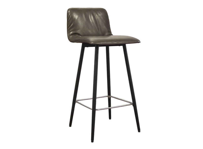 Upholstered fabric counter stool with footrest MAVERICK CASUAL | Counter stool - KFF