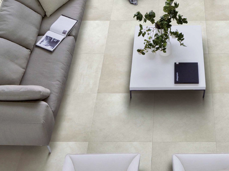Porcelain stoneware flooring with concrete effect GRAFFITI - Ceramiche Refin