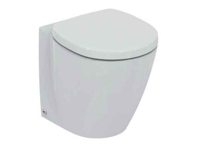 Contemporary style ceramic toilet CONNECT SPACE - E1307 - Ideal Standard Italia