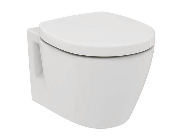 Contemporary style wall-hung ceramic toilet CONNECT SPACE - E1302 - Ideal Standard Italia