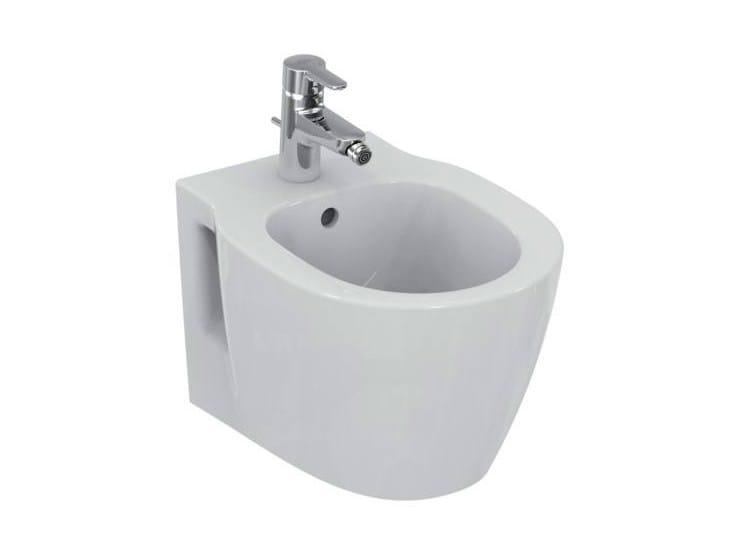 Wall-hung ceramic bidet CONNECT SPACE - E1190 - Ideal Standard Italia