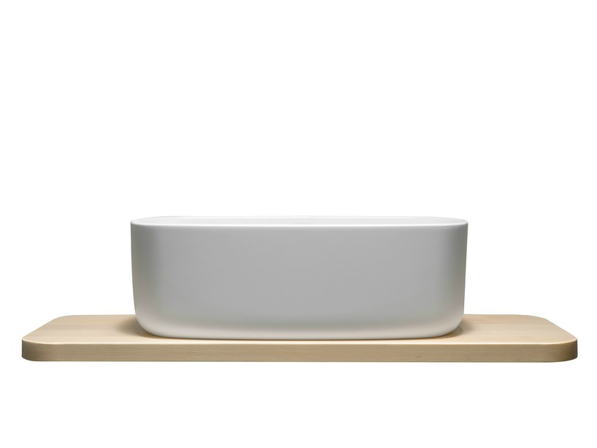 Countertop single washbasin BOUNCE COUNTER - EVER by Thermomat Saniline