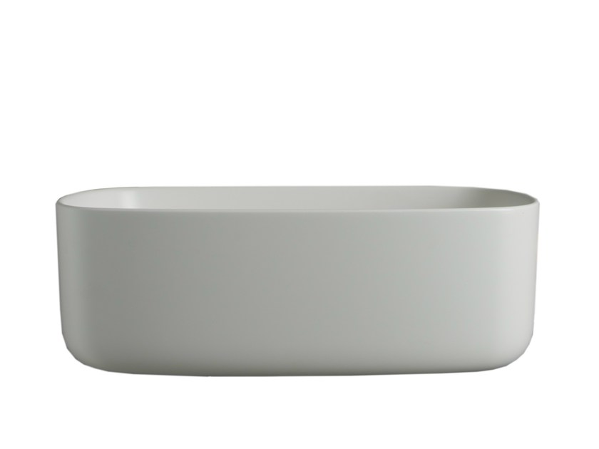 Oval wall-mounted polyurethane washbasin BOUNCE | Washbasin - EVER by Thermomat Saniline
