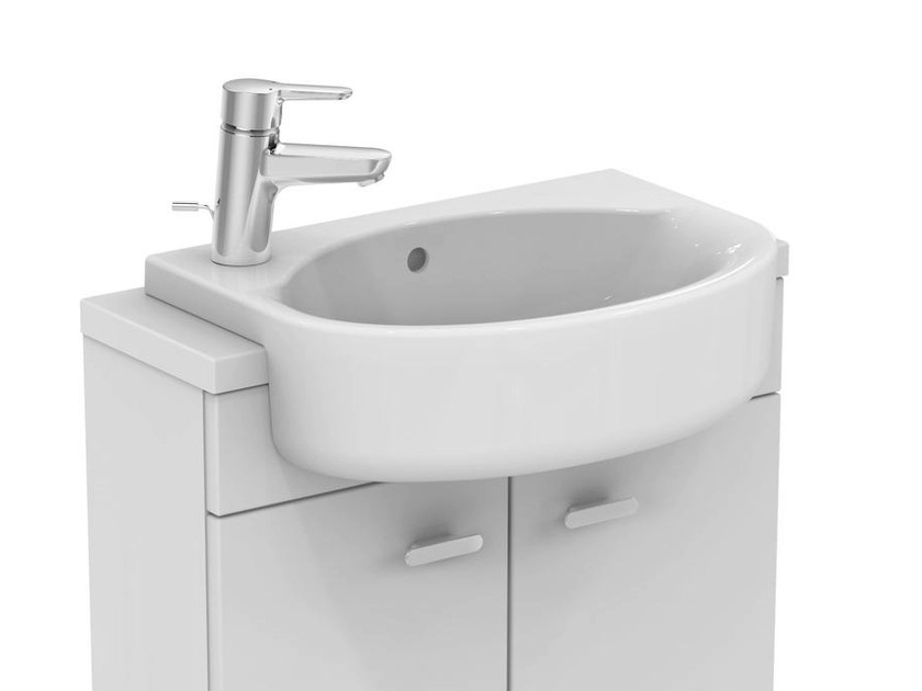 lavabo a semincasso ovale connect space e1331 by ideal. Black Bedroom Furniture Sets. Home Design Ideas