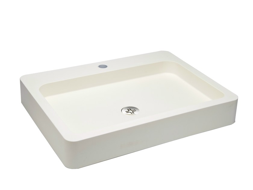Countertop rectangular washbasin TIPO by EVER Life Design