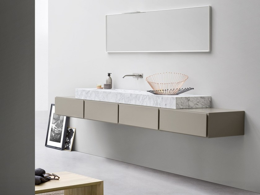 Carrara marble washbasin countertop ESPERANTO   Washbasin countertop - Rexa Design