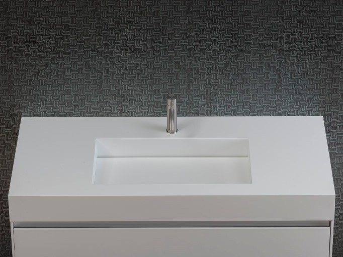 Single Corian® washbasin countertop UNICO | Washbasin countertop - Rexa Design
