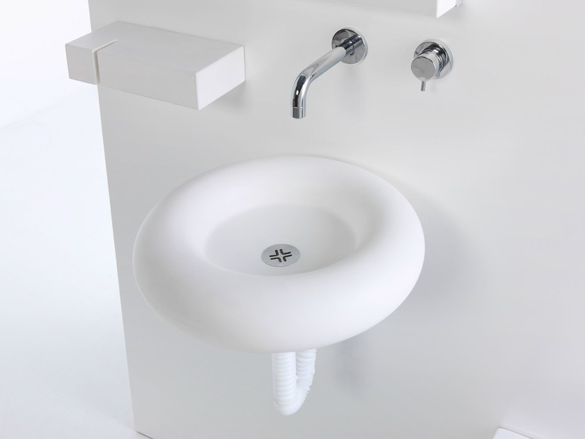 Round wall-mounted washbasin SALVAGENTE | Wall-mounted washbasin - EVER by Thermomat Saniline