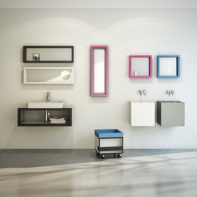 Polyurethane bathroom wall shelf SOSO90 - EVER by Thermomat Saniline