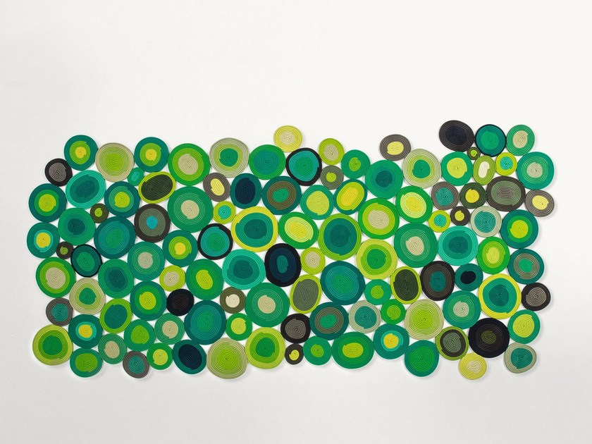 Handmade rug with geometric shapes ELLISSI by Paola Lenti