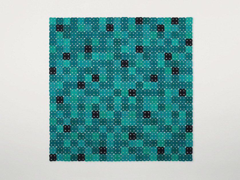 Handmade rug with geometric shapes BISANZIO by Paola Lenti