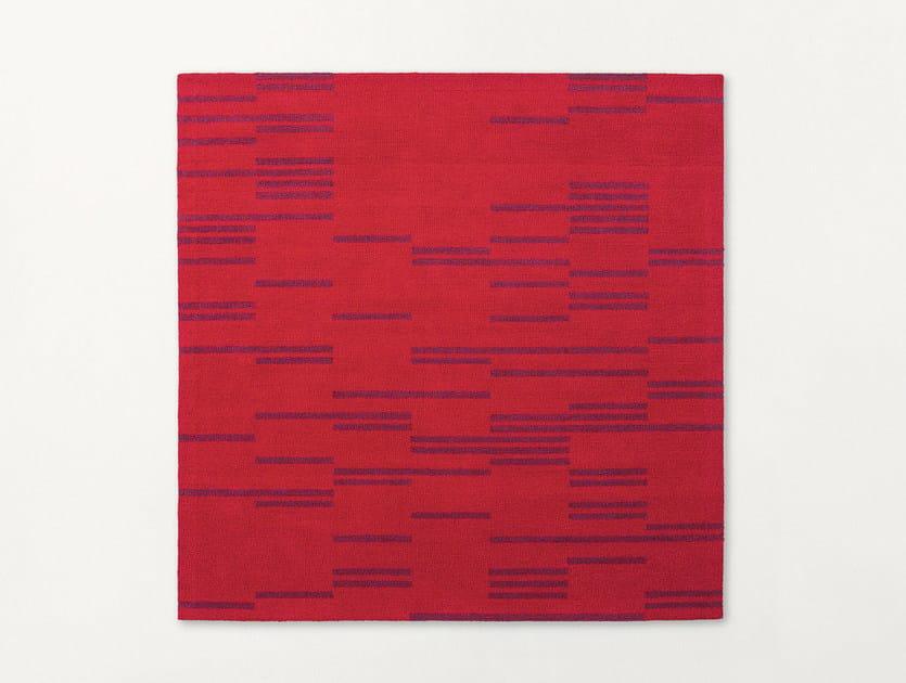 Handmade striped rug MUTAZIONI - Paola Lenti
