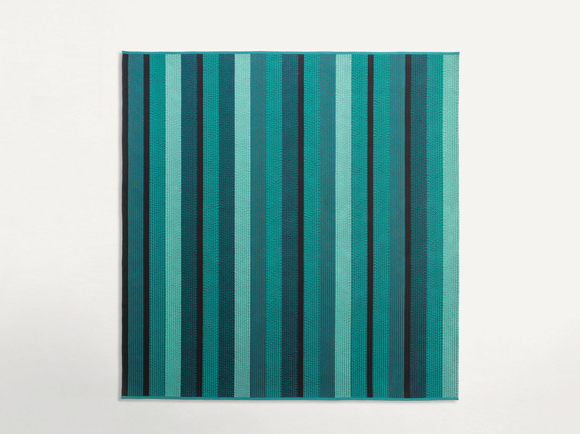Square striped outdoor rugs RAY | Striped rug - Paola Lenti