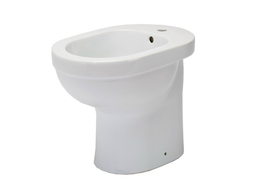 Porcelain bidet with overflow SENIOR 46 | Bidet - EVER by Thermomat Saniline