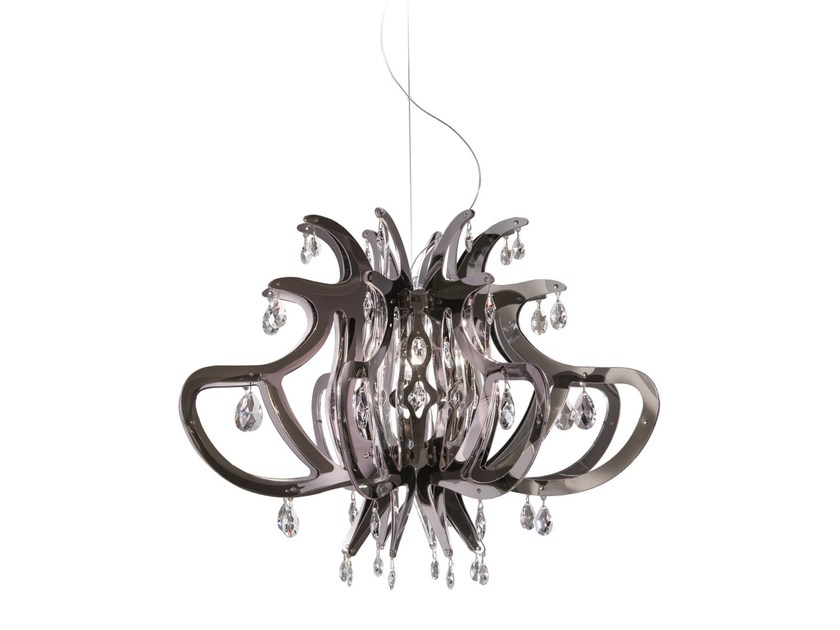 LED Opalflex® pendant lamp MEDUSA PEWTER - Slamp