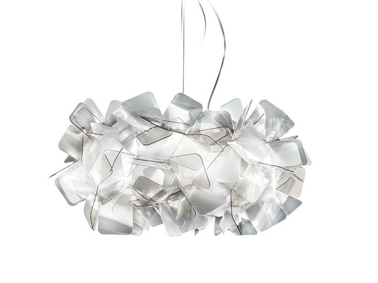 LED Cristalflex® pendant lamp CLIZIA SUSPENSION FUMÈ - Slamp