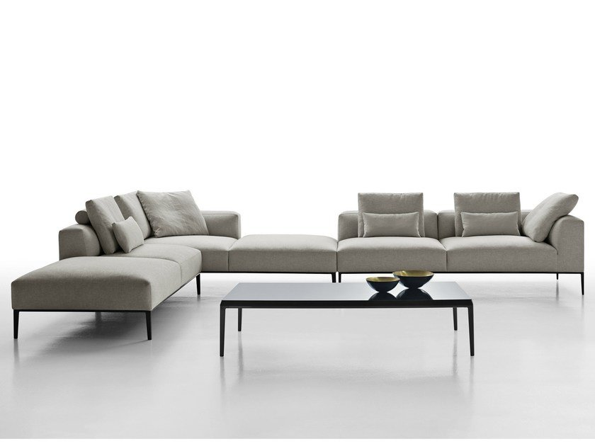 Sectional fabric sofa MICHEL EFFE - B&B Italia