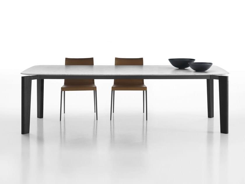 Rectangular marble table OSKAR | Marble table - B&B Italia