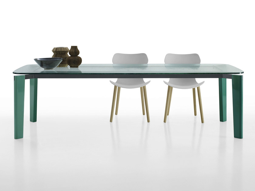 Rectangular glass table OSKAR | Glass table - B&B Italia