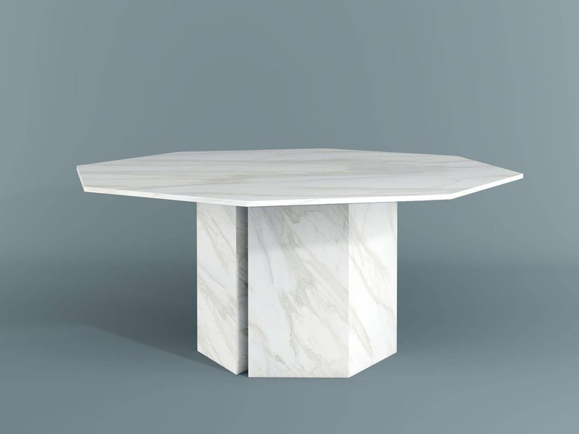 Marble dining table PLINTO | Dining table by Meridiani