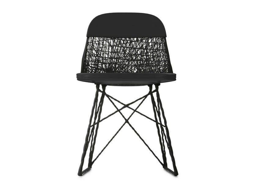 Sled base imitation leather chair CARBON PAD & CAP - Moooi©