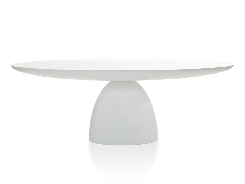 Oval Dulver®l table ELLIPSE TABLE by Porro