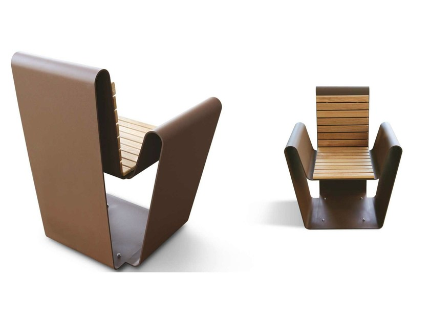 Corten™ outdoor chair CLUB A-B | Outdoor chair - Metalco