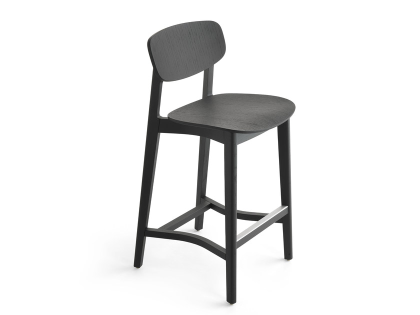 Wooden counter stool LENE | Counter stool - Crassevig