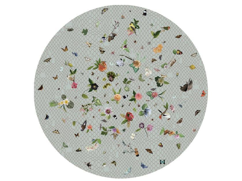 Round rug with floral pattern GARDEN OF EDEN LIGHT GREY - Moooi©
