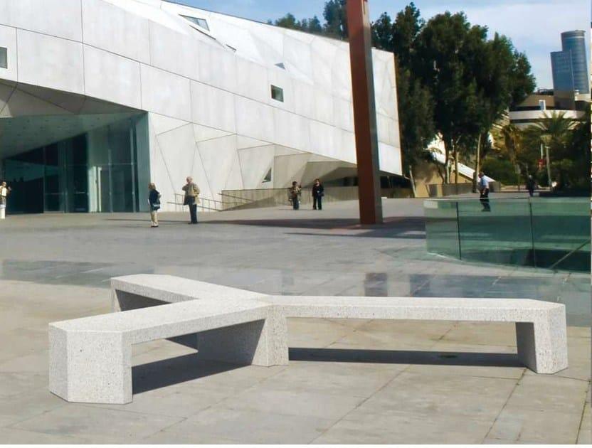 Modular reconstructed stone Bench SARAH 120° - Metalco