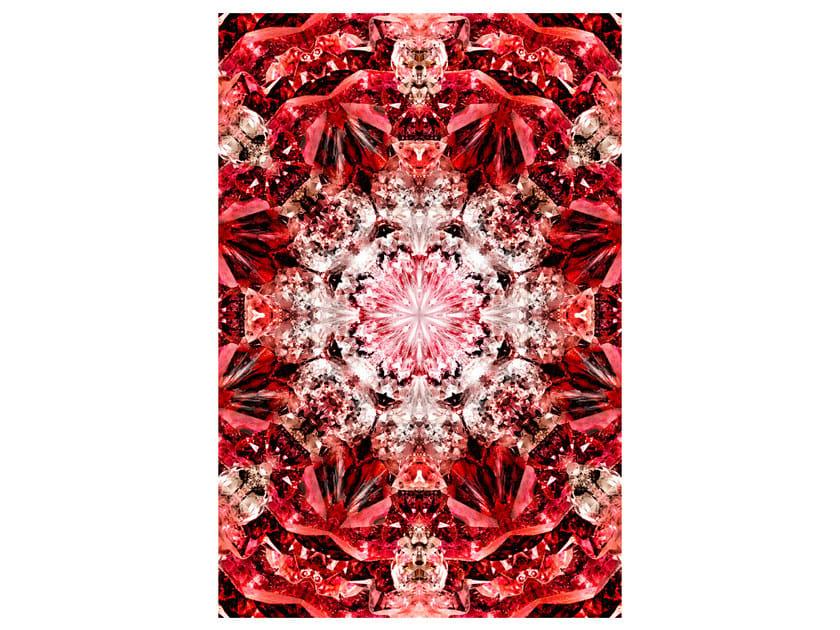 Patterned rectangular rug CRYSTAL FIRE - Moooi©