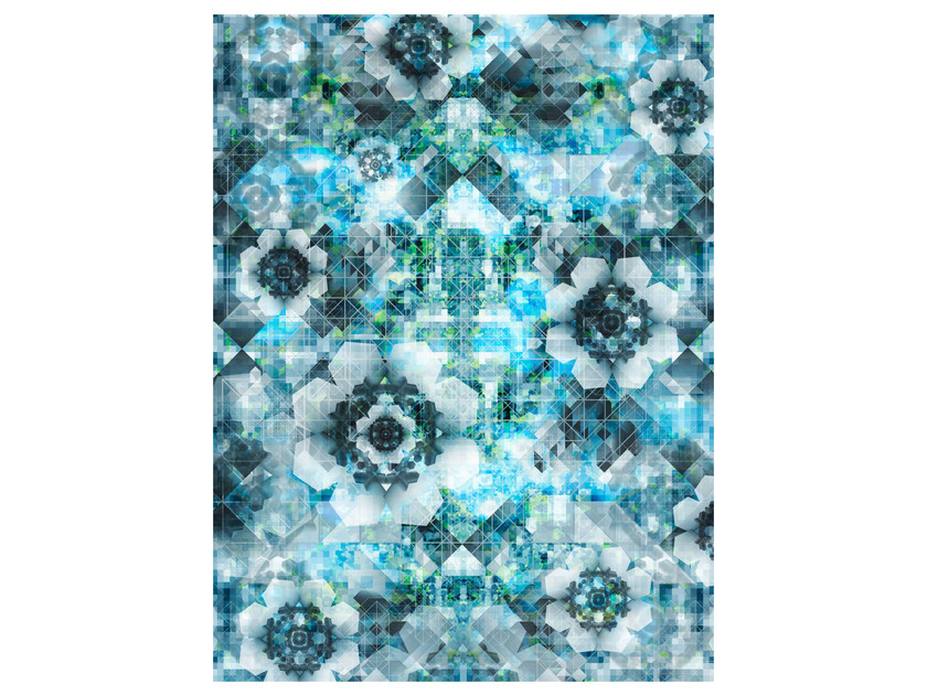 Patterned rectangular rug DIGIT SKY by moooi