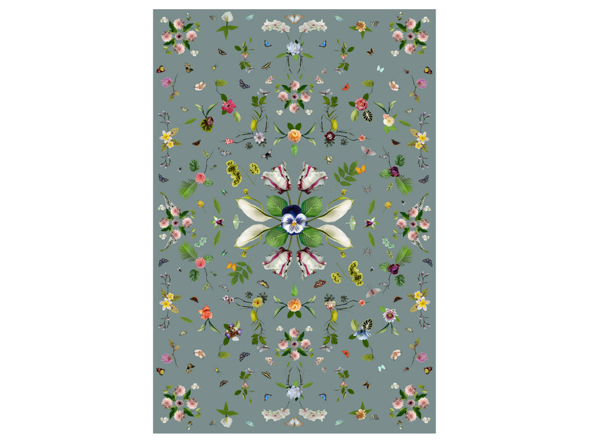 Rectangular rug with floral pattern GARDEN OF EDEN GREY - Moooi©