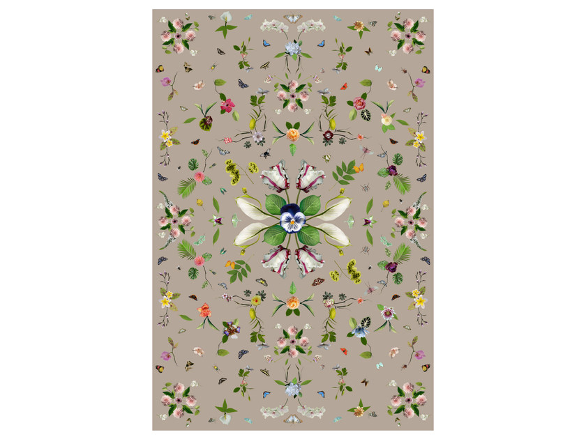 Rectangular rug with floral pattern GARDEN OF EDEN BEIGE - Moooi©