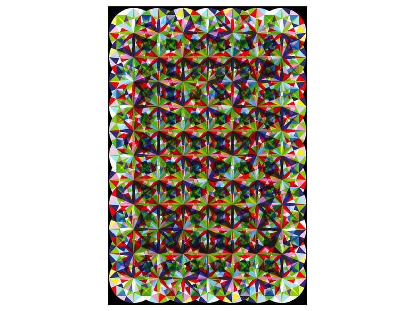 Rectangular rug with optical pattern ZIRCON - Moooi©
