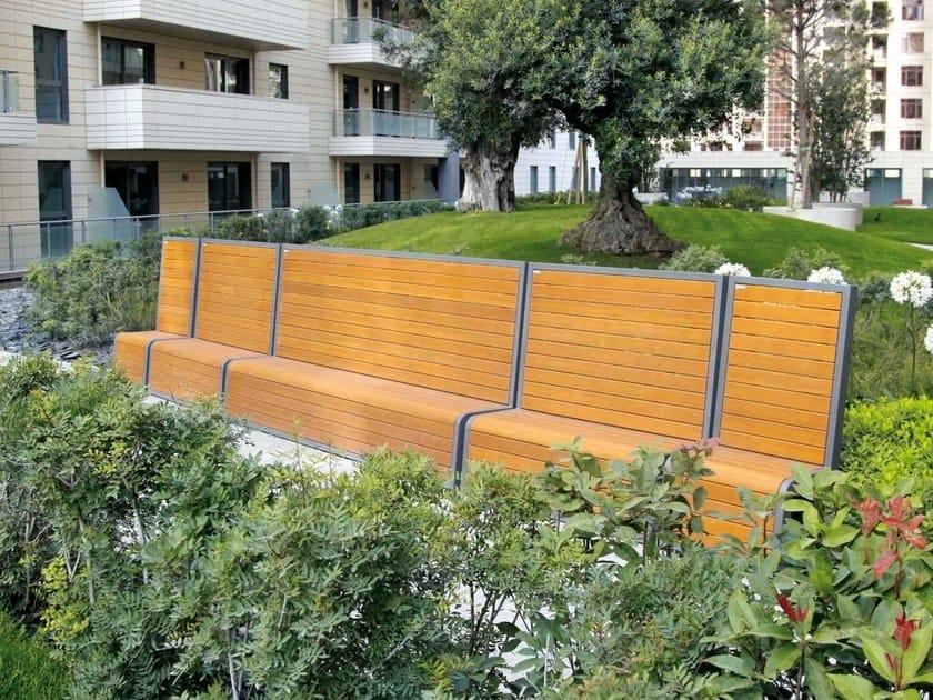 Modular Bench with back SLIDE - Metalco