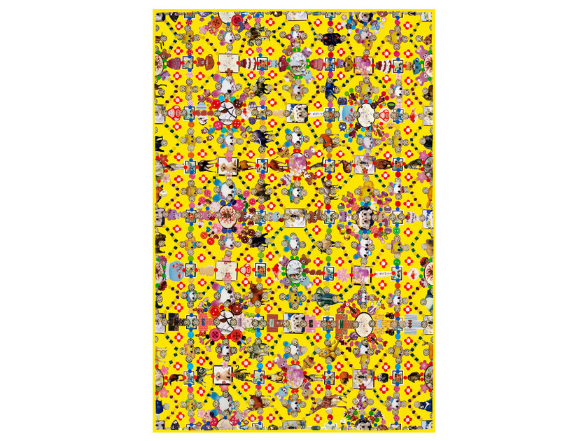Patterned rectangular rug OBSESSION YELLOW by moooi
