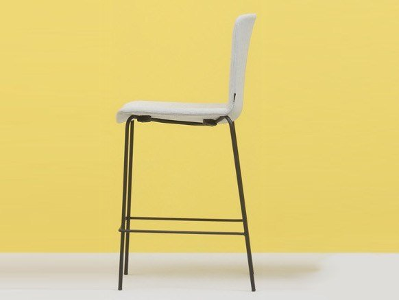 High polypropylene stool with footrest TWEET SOFT | Stool with footrest by PEDRALI