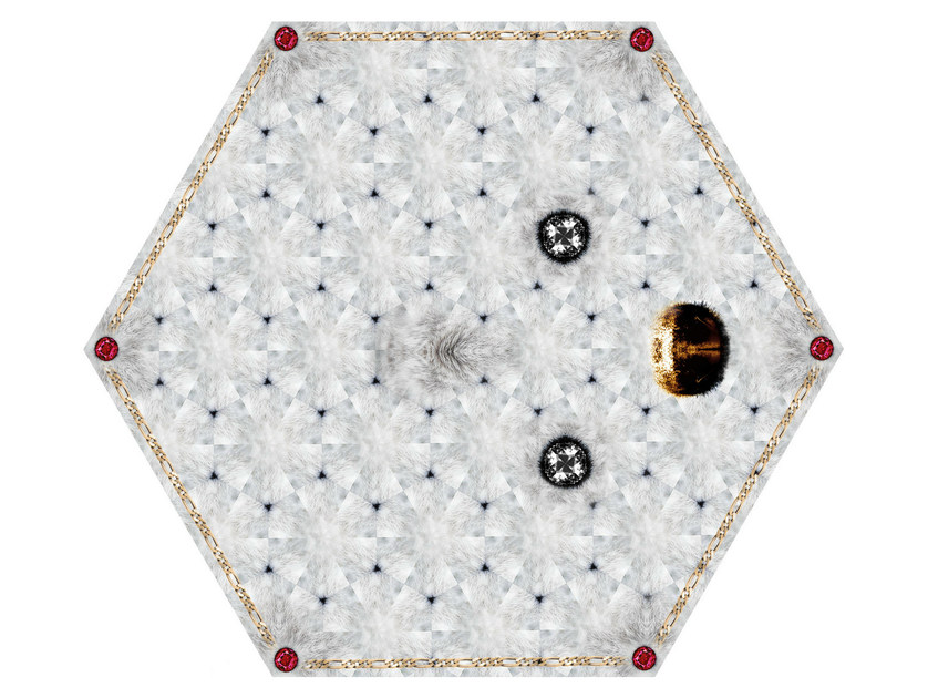 Patterned rug CRYSTAL TEDDY - Moooi©