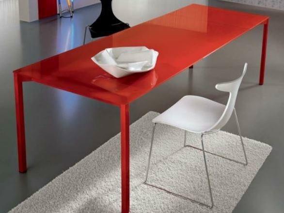 Extending rectangular crystal table PRADO | Extending table - CIACCI