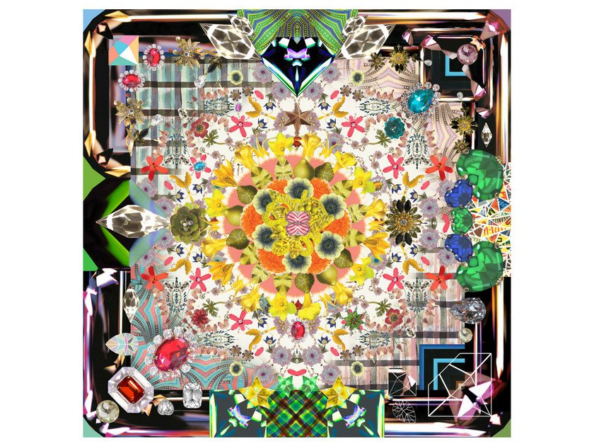 Patterned square rug JEWELS GARDEN by moooi