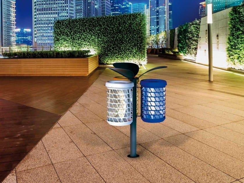 Outdoor waste bin for waste sorting BRAVO BOOM | Waste bin by Metalco