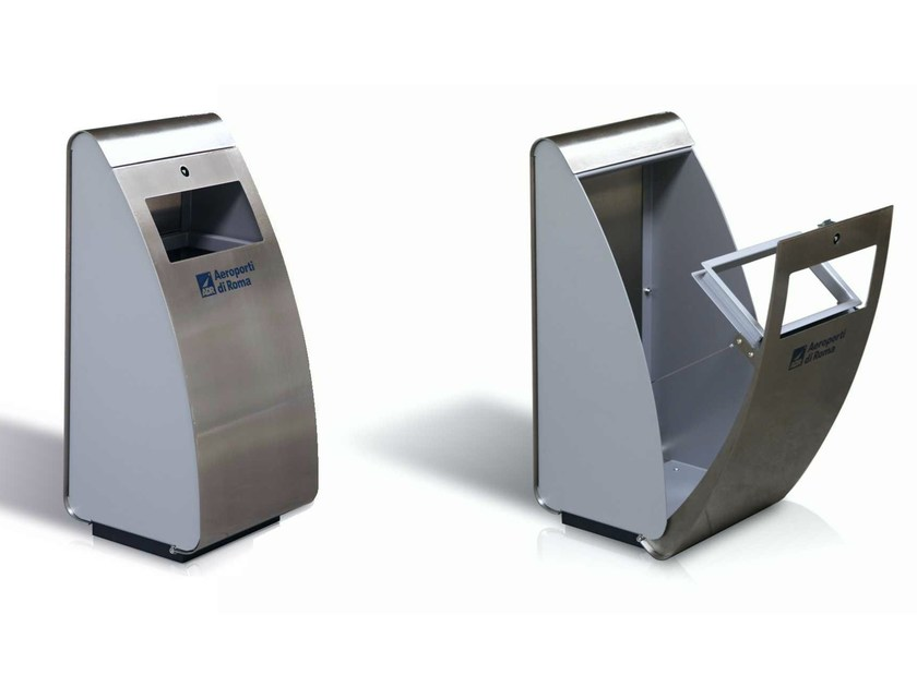 Steel waste bin JET - Metalco