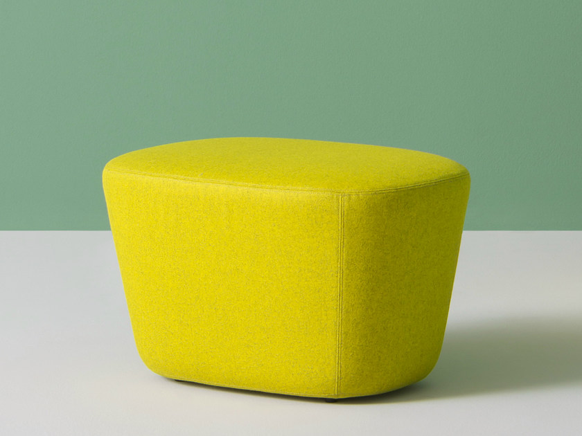 Upholstered fabric pouf LOG | Pouf by PEDRALI