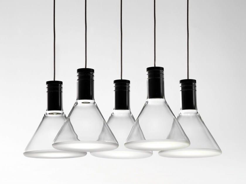 LED Pyrex® pendant lamp MULTISPOT POLAIR - Fabbian