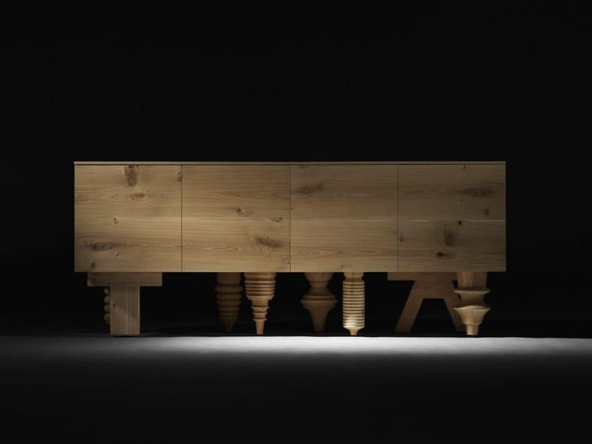 Oak sideboard with doors MULTILEG | Oak sideboard - BD Barcelona Design