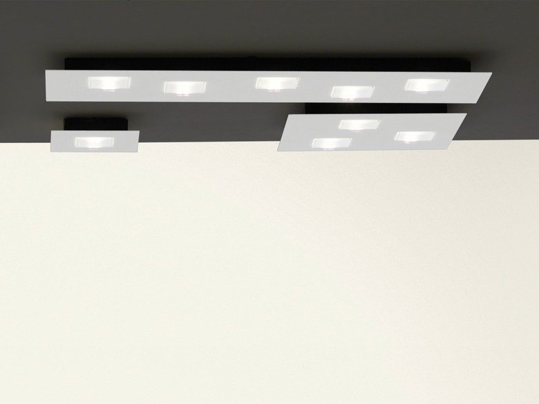 LED aluminium ceiling lamp QUARTER | Ceiling lamp - Fabbian
