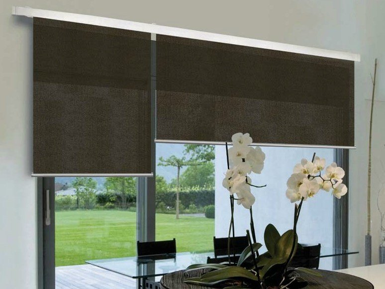 Fabric roller blind LAYLIGHT® LINEO DOUBLE MODULE - RESSTENDE