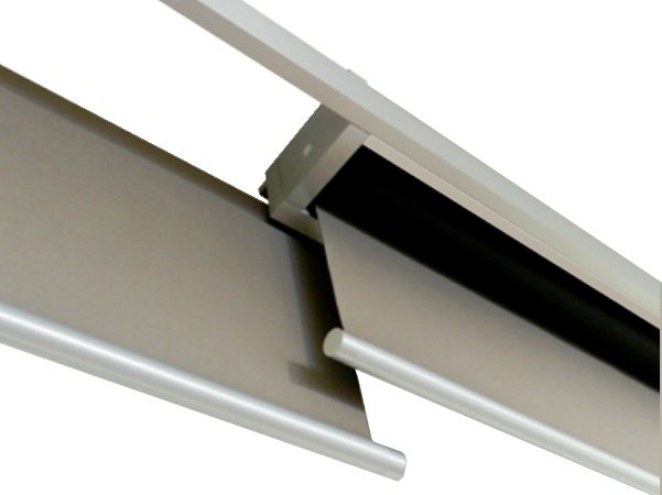 Fabric roller blind LINEO DOUBLE MODULE WITH OVERLAP - RESSTENDE